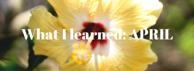 What I learned_ April
