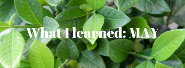 What I learned_ May2016