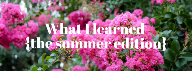 What I learned_ summer 2016